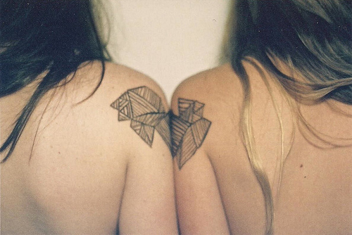 friends, girls, tattoo, tattoos