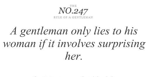 gentleman, quotes, rule