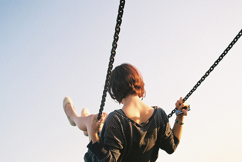 ginger, girl, nice, photography, swing