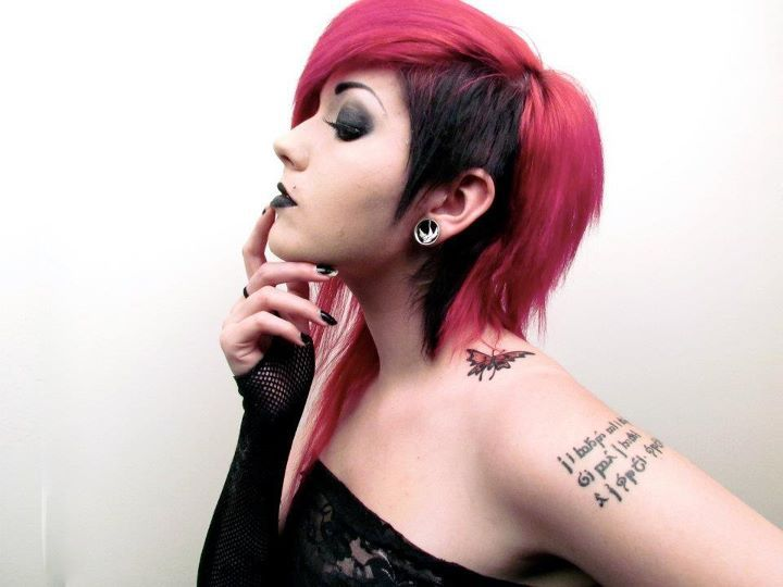 girl, goth, hair, leda monsterbunny, pretty