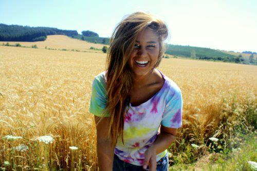 girl, hair, happiness, natureza