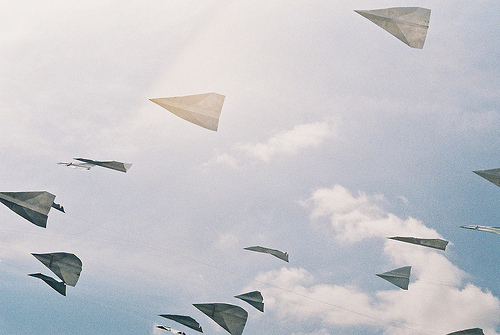 heaven, paperplane, photo, photography, plane