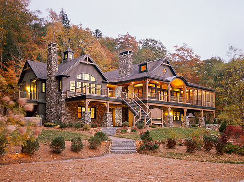 Home house luxury rich image 435462 on for Large luxury log homes