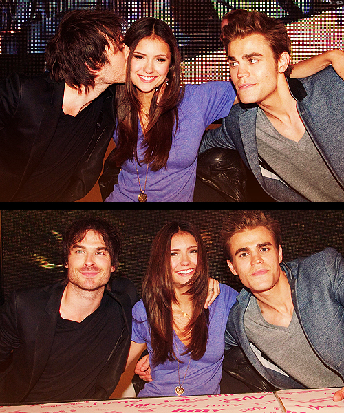 ian somerhalder, nina dobrev, paul wesley, the vampire diaries