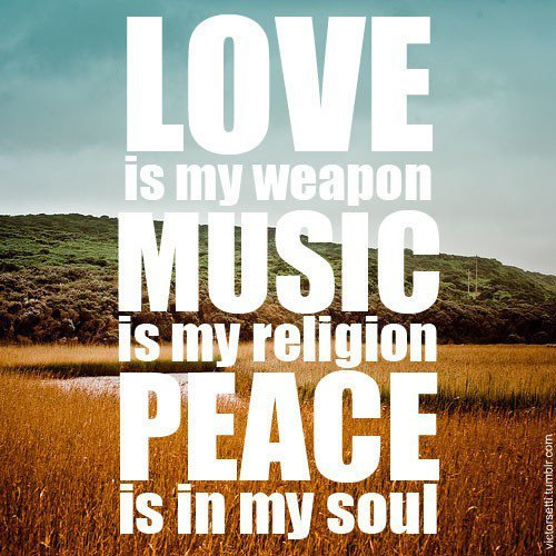 love, music, peace, photography, quote