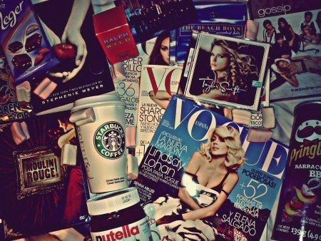 nutella, starbucks, twilight, vouge