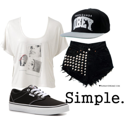 outfit, polyvore, snapback, swag, vans