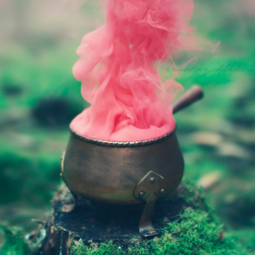 pink, pot, smoke, whimsical