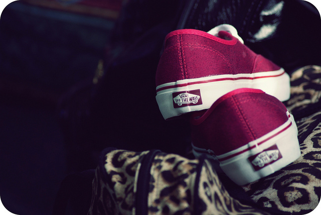 pink, shoes, skate, vans, vans off the wall