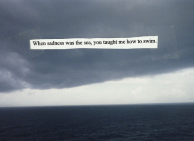 sad, sadness, sea, swim, text